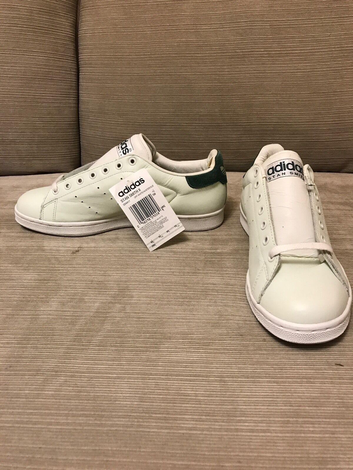 Rare Adidas Stan Smith Vintage, White/Gray And Green  Comfortable