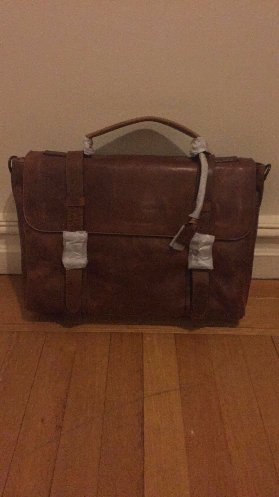 Brand New Brown Frye Briefcase w  all tags