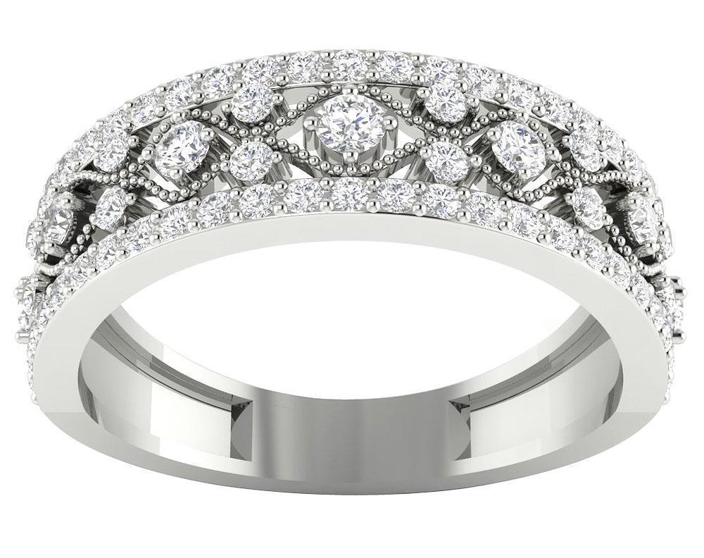 SI1 G Natural 0.75 Ct Diamond Engagement Ring 14K White Yellow pink gold 6.35 MM
