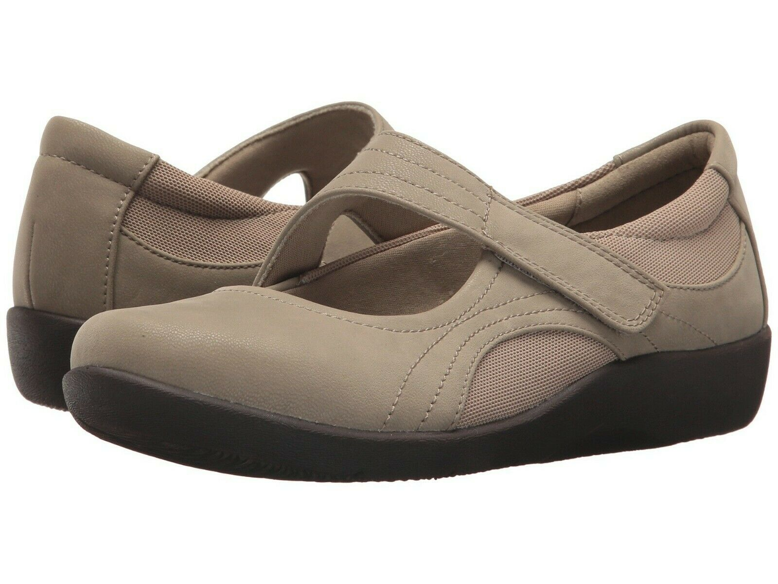 Chaussures femmes Clarks Sillian Bella Casual Mary Jane Flats 33425 SABLE  NEUF