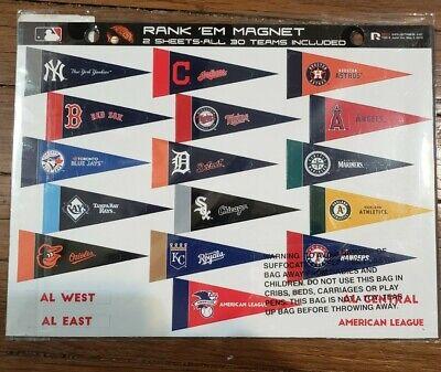 Major League Baseball Rank 'Em All 30 Teams Magnetic ...