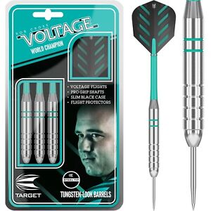 Target-Rob-Cross-Silver-Voltage-Darts-Set-24g-grams-Steel-Tip-Tungsten-Look