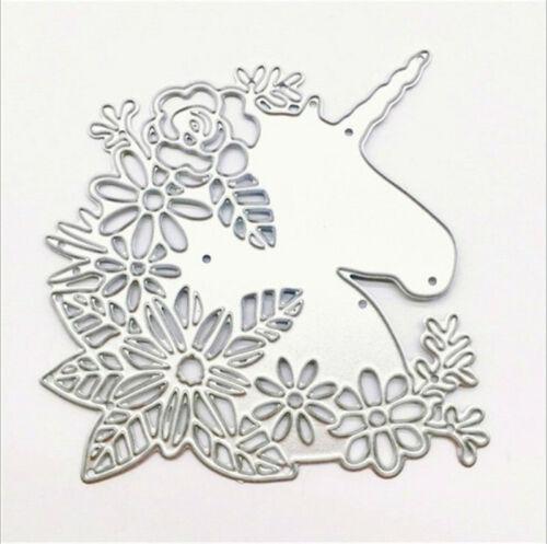 Stanzschablone Einhorn Blume Weihnachten Geburtstag Hochzeit Oster Album Karte
