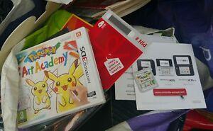 jeu-NINTENDO-3DS-POKEMON-ART-ACADEMY-FR-COMME-NEUF-AVEC-POINTS-VIP-NON-GRATTES