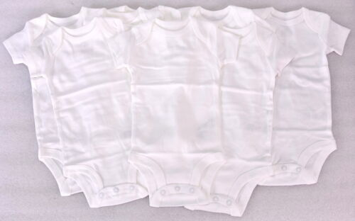 Simple Joys by Carter/'s Long Sleeve Bodysuits White LOT OF 7