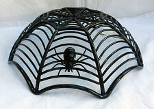 Large Spider / Spider's Web Bowl - Halloween Party / Goth Fruit Bowl - BNWT
