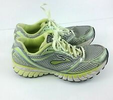 65ee079306a3e BROOKS Ghost 6 Women s Running Athletic Shoes Gray Neon Yellow Lime Size 7