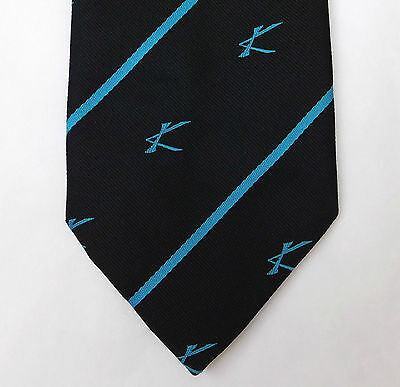 K Scottish tie Initial corporate logo Unidentified company club Vintage 1980s