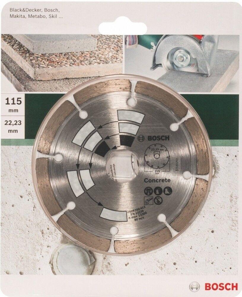 BOSCH 2609256413  Diamanttrennscheibe Beton  Beton/Granit 115 X 22.23 mm.