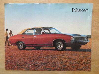 Ford Fairmont Berlina Orig 1972 Sales Brochure Opuscolo Dall'australia- Per Garantire Una Trasmissione Uniforme