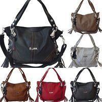 große Damen Tasche Schultertasche Handtasche Umhängetasche Shoppertasche 2199