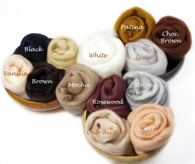 Fine Merino Soft Wool Multipack Many Colors Top Roving Fiber Felting Spinning