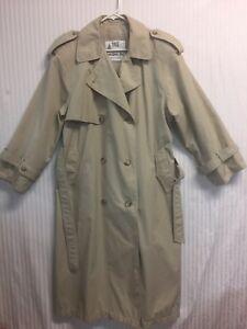 London Fog Towne Women S 12p Khaki Trench Coat Ebay