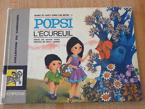 Rare-Hard-Cover-French-Book-Marc-et-Lucy-Chez-les-Betes-Popsi-L-039-ecureuil
