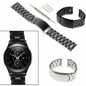 Stainless-Steel-Watch-Band-Strap-20mm-For-Samsung-Galaxy-Gear-S2-Classic-SM-R732