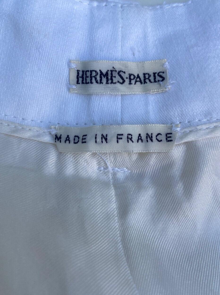 Vintage Hermes Linen Suit 36 - image 7