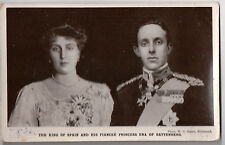 Vintage Postcard King Alphonse XIII & Queen Ena Of Spain