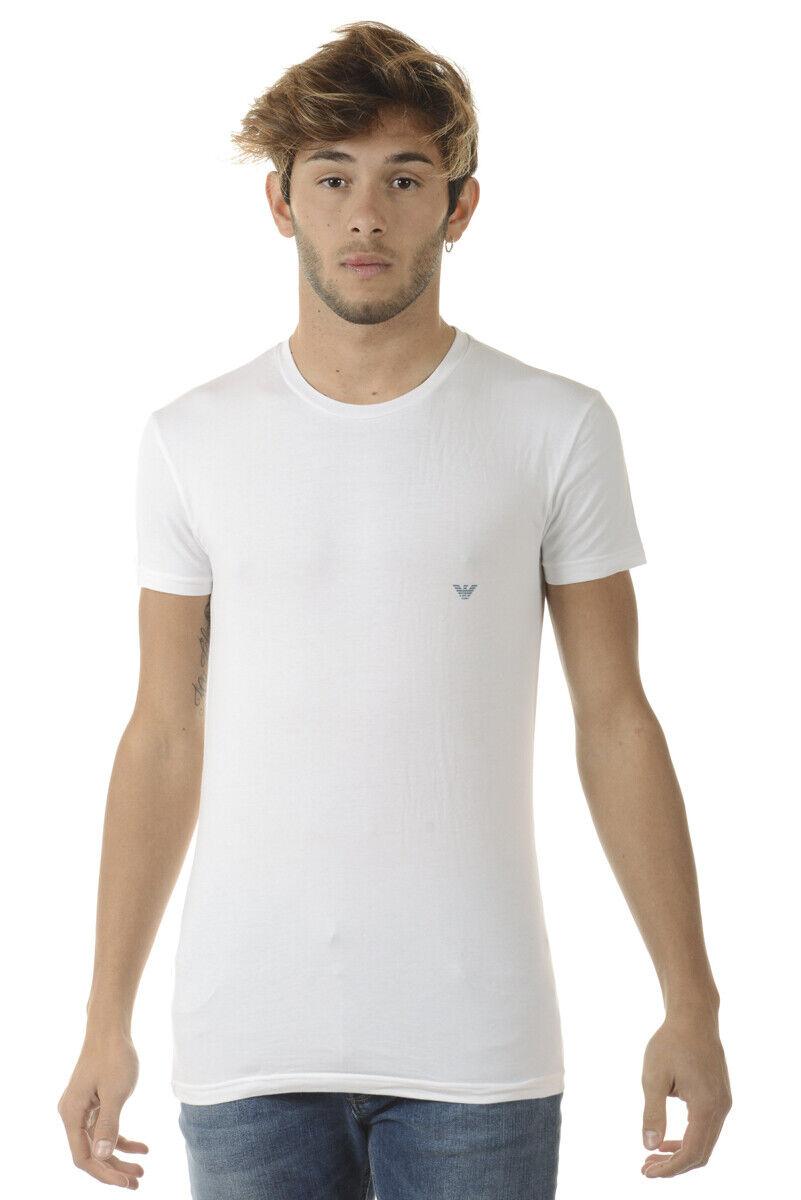 Emporio Armani T Shirt Sweatshirt Man Weiß 1110357A725 10 Sz M MAKE OFFER