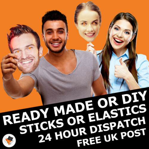 Customised Party Photo Face Masks Hen Stag DIY Assembled Wholesale 10 15 30