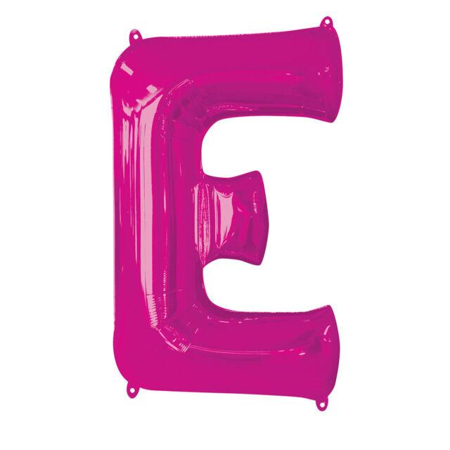 Letter 'E' Pink 34 Inch Supershape Foil Balloon