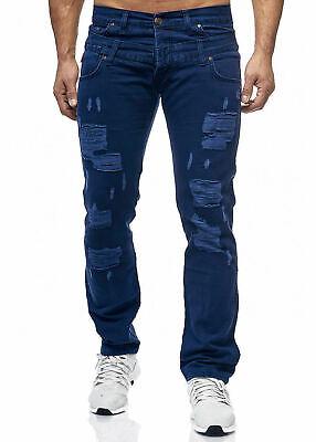 IGIMO Herren BikerJeans Destroyed Schwarz Slim-Fit Clubwear Denim Jeans NEU