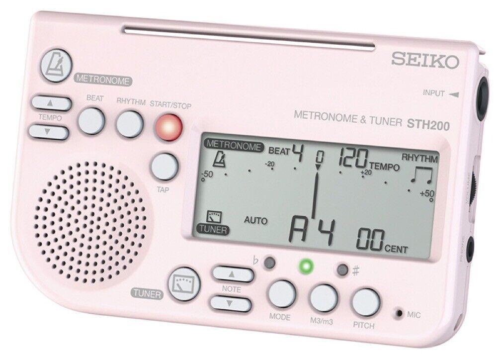 SEIKO STH200 P Tuner Metronome Use Simultaneously