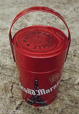 2011 La vie Grand Marnier Brandy Liqueur Red Tin Canister Marnier-Lapostolle