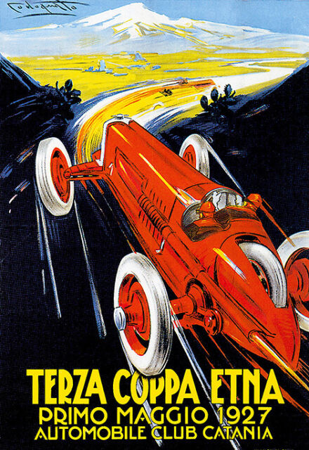 Terza Coppa - Etna Italy - Automobile Club Catania Race A3 Art Poster Print