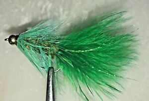 Bass 6 x Beadhead Woolly Bugger Fly Fishing Streamer Flies For Salmon Trout