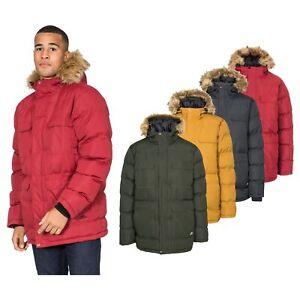 Trespass-Baldwin-Men-Waterproof-Parka-Jacket-with-Hood-in-Black-Green-amp-Yellow