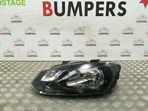 VOLKSWAGEN-VW-POLO-2009-2014-GENUINE-MK8-N-S-PASSENGERS-LEFT-HEAD-LIGHT-LAMP