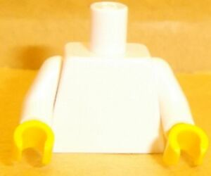 Lego-White-Torso-x-1-with-Yellow-Hands-for-Minifigure