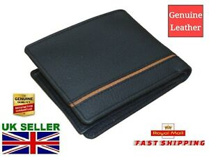New-2020-MEN-039-s-Quality-Leather-Flip-Wallet-Black-Six-Credit-Cards-Cash-Coin-ID