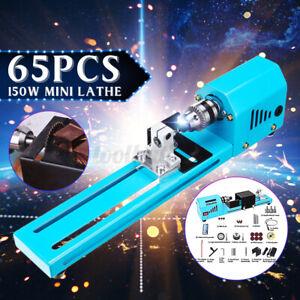 65Pcs-150W-Mini-Wood-Lathe-Bead-Cutting-Polishing-DIY-Drill-Woodworking-7000RPM