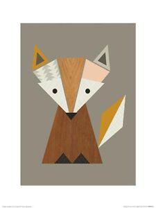 Little-Design-Haus-Geometric-Fox-ART-PRINT-30x40cm-NEW-home-decoration-poster