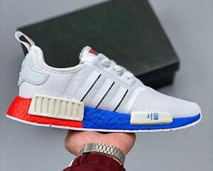 encender un fuego Lada Noticias  New adidas Originals NMD R1 Seoul Mens athletic sneaker white red blue all  sizes | eBay