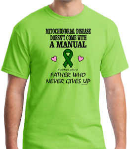Gildan-Short-Sleeve-T-shirt-Mitochondrial-Disease-Comes-With-Father-Never-Gives