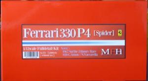 Modèle d'usine Hiro 1/12 330p4 Spider Ver.c 1967 Kit complet de détail K-478 De