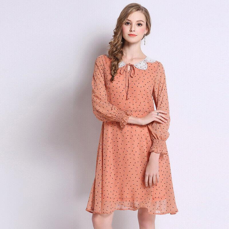 Élégant kleid Rosa weiß schlank hülle schaukel schlank weich 4942