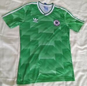 89d64ff3c97 Germany 1990 world cup retro vintage classic soccer team away jersey ...