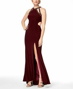 ad631894e62  459 BETSY   ADAM WOMEN S RED CUT-OUT EMBELLISHED SLEEVELESS GOWN ...