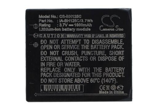 Batería para Samsung IA-BH125C Cámara Batería Li-Ion 1000mAh//3.7Wh