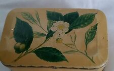 Antique Tea Tin Box India Ceylon Java Sumatra Container Advertising Rectangle