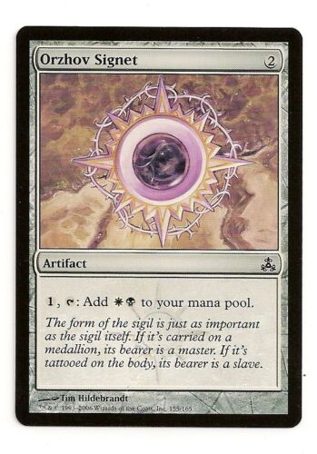 MTG  4X ** ORZHOV SIGNET ** X4 Magic Guildpact