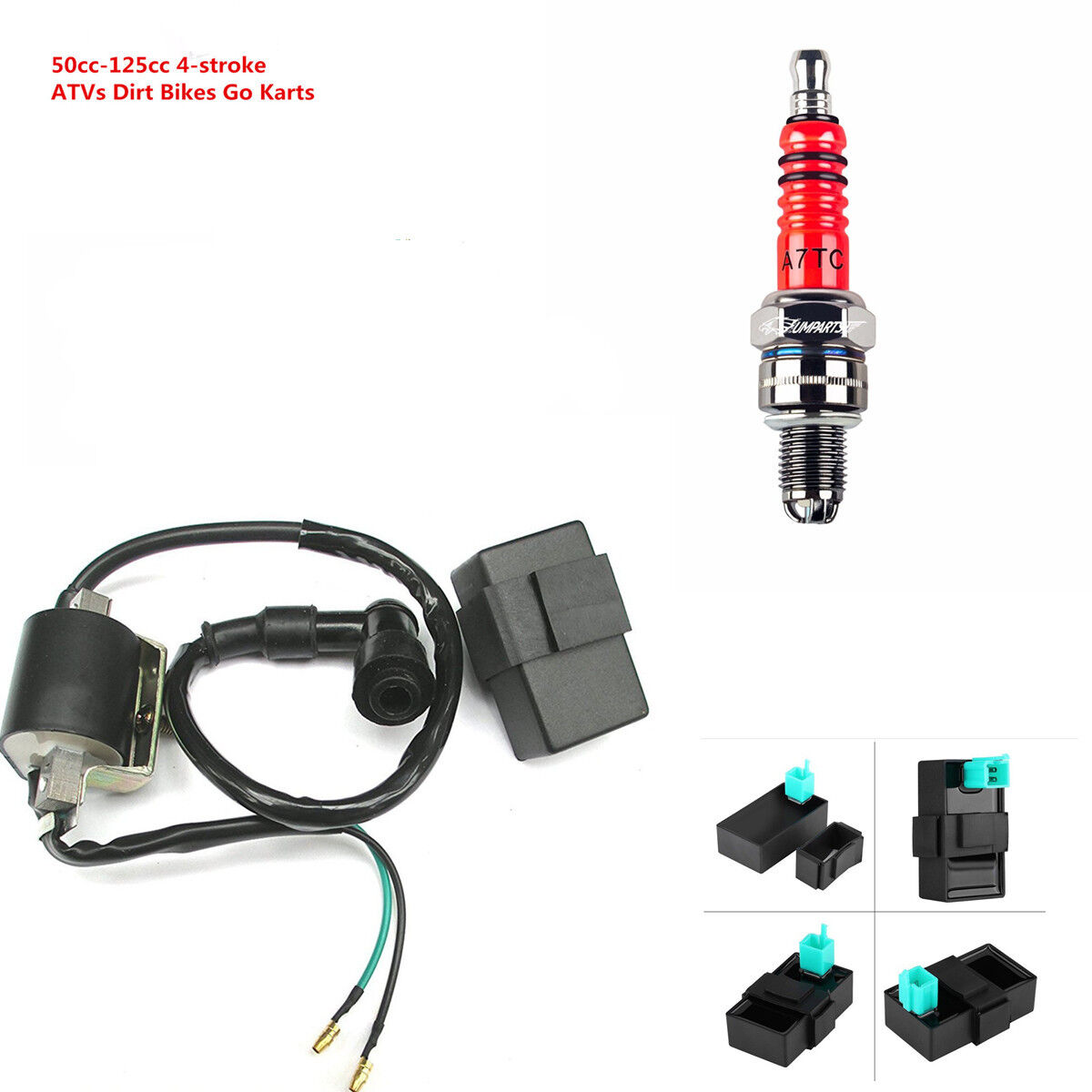 12v Ignition Coil 5 Pin Cdi Spark Plug Set For Chinese Atv Quad 50 125cc 4 Stroke Wiring Diagram Norton Secured Powered By Verisign