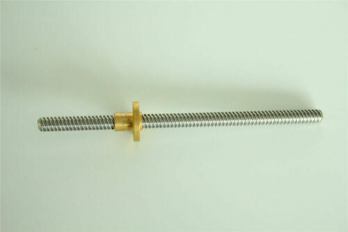 T8 8mm L100mm-1200mm Acme Thread Lead Screw and Copper Nut for 3D Printer Z Axis