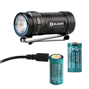 Olight-S1-mini-Baton-600lm-Rechargeable-LED-Flashlight-with-two-RCR123-batteries