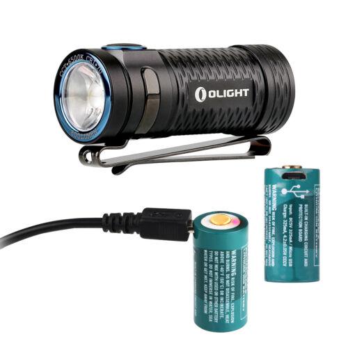Olight S1 Mini Baton 600 LM DEL rechargeable lampe de poche avec deux RCR123 Batteries