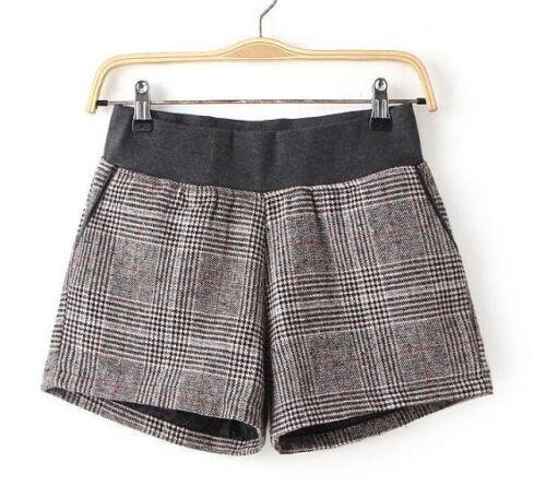 pantaloncini pantaloni corti donna lana comodi morbidi caldi  grigio 6094