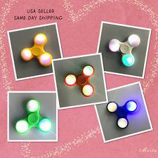 5PK LED Various Color Tri-Spinner Fidget Toy EDC Hand Finger Spinner Desk Focus